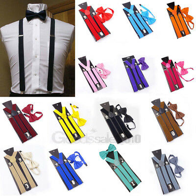 Suspender and Bow Tie Set for Adults Men Women Teens (USA Seller) 2018 New