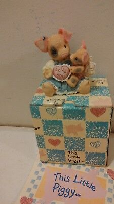 Enesco This Little Piggy Figurine I'll Love You Til Pigs Fly NIB 1995 Valentine