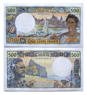 1969-92 500 New Caldonia Foreign Bank Note P-60d CCU