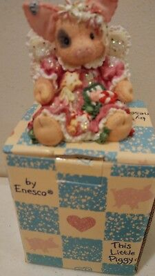 Enesco This Little Piggy  Figurine NIB 1995 Sugar Plum Fairy Angel with candy