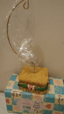 Enesco This Little Piggy Hanging Ornament Hanger Hay Bale display 143049 NIB