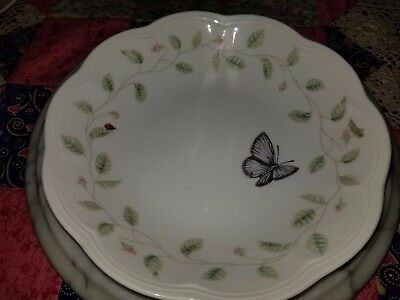 """Lenox Butterfly Meadow Soup/Salad Bowls 8 3/4"""" W and 4 1/4"""" H"""