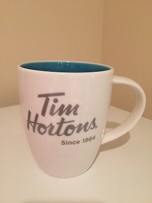 Tim Hortons Limited Edition 014 Coffee Mug White & Blue Inside