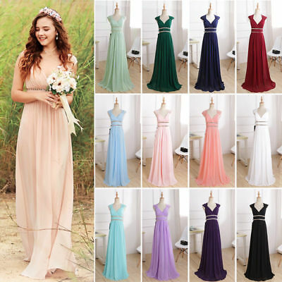 44b5f9b73f5 Ever-Pretty V Neck Long Maxi Sleeveless Evening Prom Gown Dress Cocktail  08697