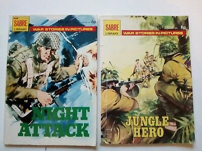 Sabre Library War Stories in Pictures , Jungle hero & Night Attack,