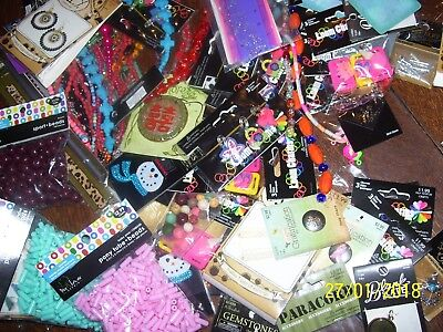 Big Wholesale Lot Of Assorted Jewelry Crafts / Crafting, +Stickers, Over $450.00