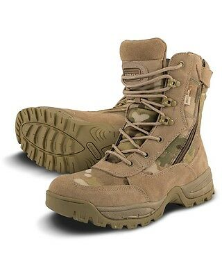 Ex-Display Multicam LIGHTWEIGHT SPEC OPS CAMO RECON BOOTS Military Tactical UK12