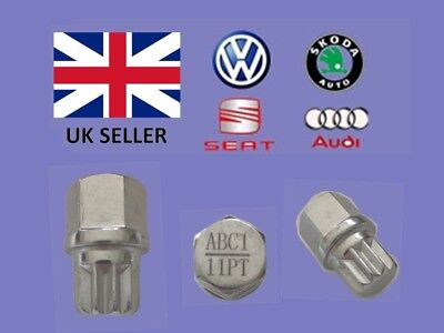 Audi Vw Seat Skoda Locking Wheel Nut Key  ABC 1 Type 11 Splines