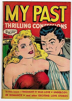 My Past Thrilling Confessions #7 (1949 Fox) Vg/fn Classic Scarce Gga Cover