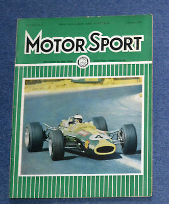 Motor Sport February 1968 South African GP, cars driven in 1967, Ford Escort