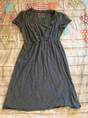 Motherhood Maternity Nursing Nightgown Grey Small Euc Sleep Gown