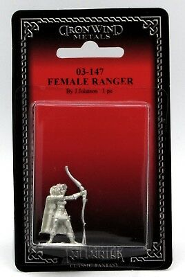 Ral Partha 03-147 Female Ranger (Player Character) Archer Warrior with Bow Scout