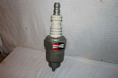 """Vintage 1960's Champion Spark Plugs Chevrolet Ford Gas Oil 23"""" Display Sign"""