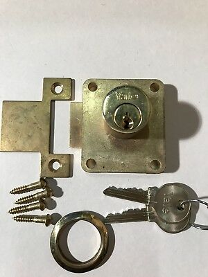 LEFT HAND Quality Yale Cupboard Lock Brass sprung Catch Garages Lockers Cabinets