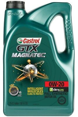 Castrol 03060 GTX MAGNATEC 0W-20 Synthetic Motor Oil 5 Quart Original Quality