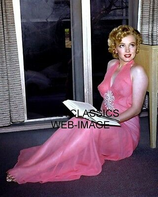 Marilyn Monroe In Provocative Pink See Thru Outfit 8X10 Photo Pinup Cheesecake