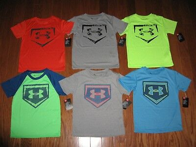 Under Armour Short Sleeve Shirt Boys Size 4/5/6/7 Nwt