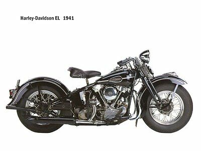 vintage /classic 1941  Harley Davidson  Motorcycle Ad /Poster/photo