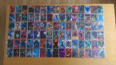 Rare 2016 Marvel Masterpieces Orange Variant Set 1-90 Include High Cards Nm/Mint