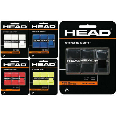 3PK Head XtremeSoft Overgrip Tennis/Squash Racket/Racquet Handle Tacky Grip Tape