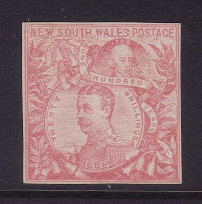 NSW 1888 20/-Centennial Imperforate Colour Trial **RARE**