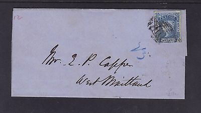 NSW 2d Laureate Stars in Corners Cover to West Maitland.**RARE**