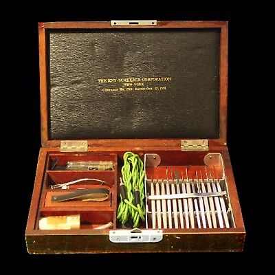 Vintage 1918 KNY - Scheerer Corporation Ophthalmic Surgery Kit - Good Condition