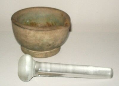 Vintage Mortar & Pestle - Pill Grinder - Good Condition for it's age