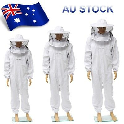 AU Beekeepers Protection Bee keeping Suit Safty Veil Hat All Body Equipment Hood