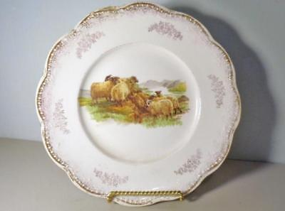 Antique Game Plate - Sheep In Rockey Field - Grass - E.E.C.CO Porcelain