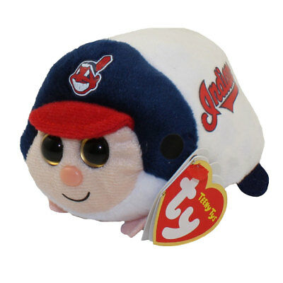 """Ty Beanie Boos 4"""" Teeny Tys MLB CLEVELAND INDIANS Stackable Plush MWMT's 2018"""
