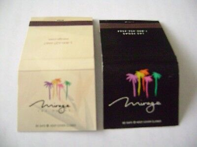 """Lot of 2 different Match Books, """"THE MIRAGE CASINO/HOTEL"""" Las Vegas, complete.,"""