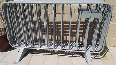 Steel Crowd Control Barrier, 4ft high x 7 foot long   NEW   powder coated paint