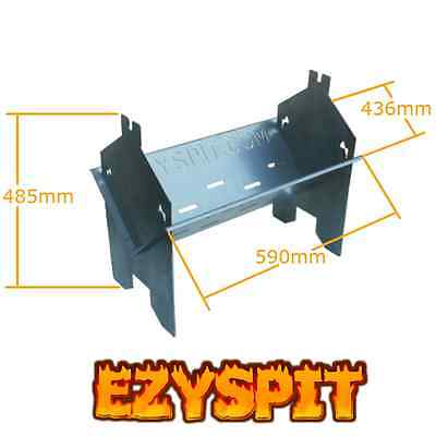 Ezyspit Flat Pack Spit BBQ Rotisserie folding Fire Pit Portable camping barby