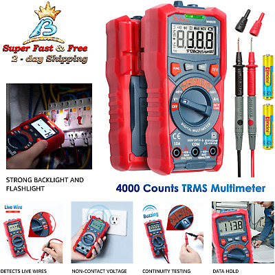 Digital Multi Meter Continuity Tester Volt Amp Auto Ranging Electronic Voltage
