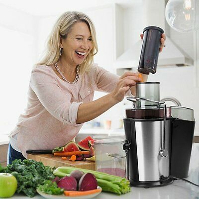 400W Juice Extractor,BESTEK  Fruit Juicer Machine with Cleaning Brush Dual Speed