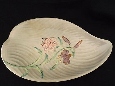 Vintage Retro Shorter & Son Large Grey Serving Plate Day Lillies ?  / Flowers