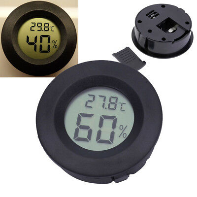 Digital Cigar Humidor Hygrometer Thermometer Temperature Round