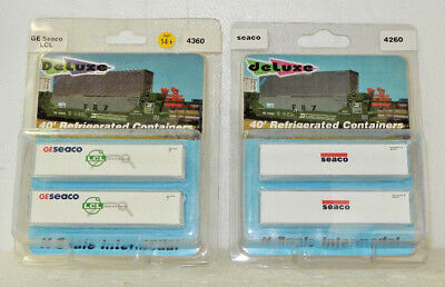 4 x Deluxe Innovations N Scale Seaco/GE Seaco 40' Refrigerated Containers