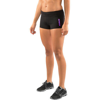 Virus Women's Stay Cool Data Compression Training Shorts - Black/Purple