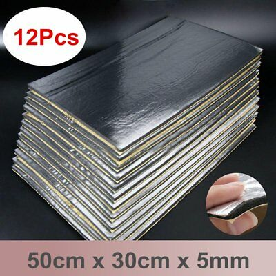 12Pcs 14''x20'' 5mm Sound Deadener Car Heat Shield Insulation Deadening Mat