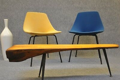 2 Pierre Guariche TONNEAU Stühle chairs midcentury vintage fifties 50th France