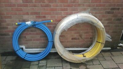 BLUE MDPE PLASTIC WATER MAINS PIPE 32MM Dia approx 25m length