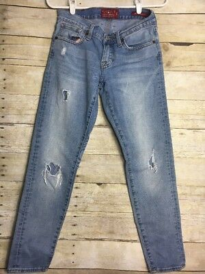 Lucky Brand Jeans Women's Size 0/25 Sienna Cigarette Light Rinse DISTRESSED