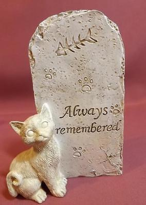 MEMORIAL PLAQUE for CAT  STONE LOOK NEW *POLY- RESIN* 17cm FREE POST