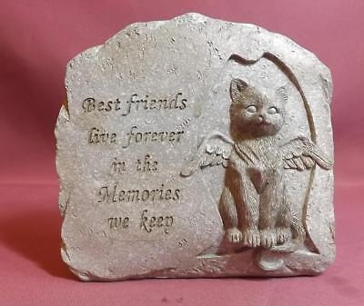 MEMORIAL PLAQUE for CAT NEW POLY- RESIN STONE EFFECT FREE POST