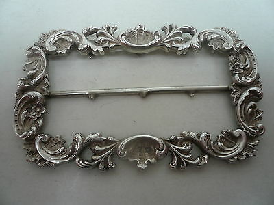 Silver Buckle, Sterling, Antique, English, Hallmarked 1898
