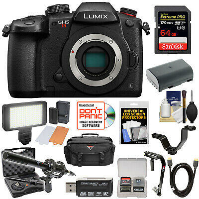 Panasonic Lumix DC-GH5S Wi-Fi C4K HD Digital Camera Body Kit