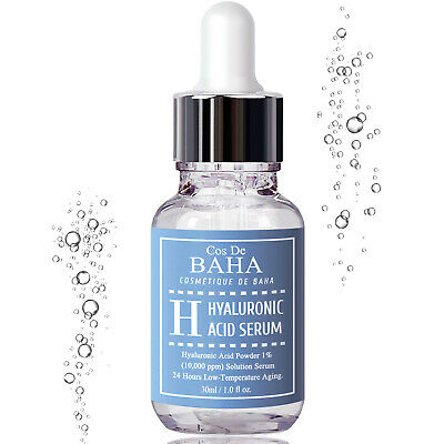 100% Pure Hyaluronic Acid Face Serum HA Anti Aging Wrinkles Lines Boost Collagen