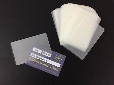 50 x LAMINATING POUCHES FOR MEMBERSHIP CARD ID CARD REWARD CARD - UK SELLER!